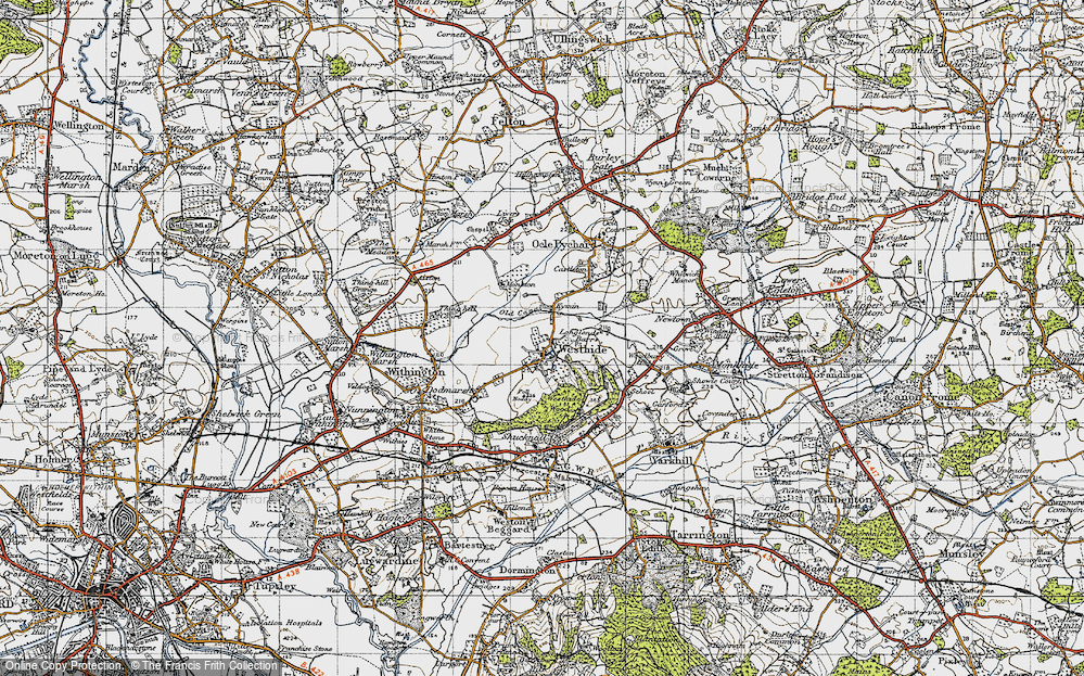 Old Map of Westhide, 1947 in 1947