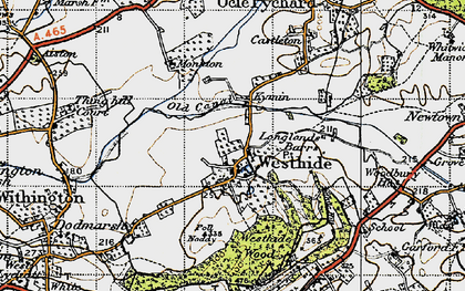 Old map of Westhide in 1947