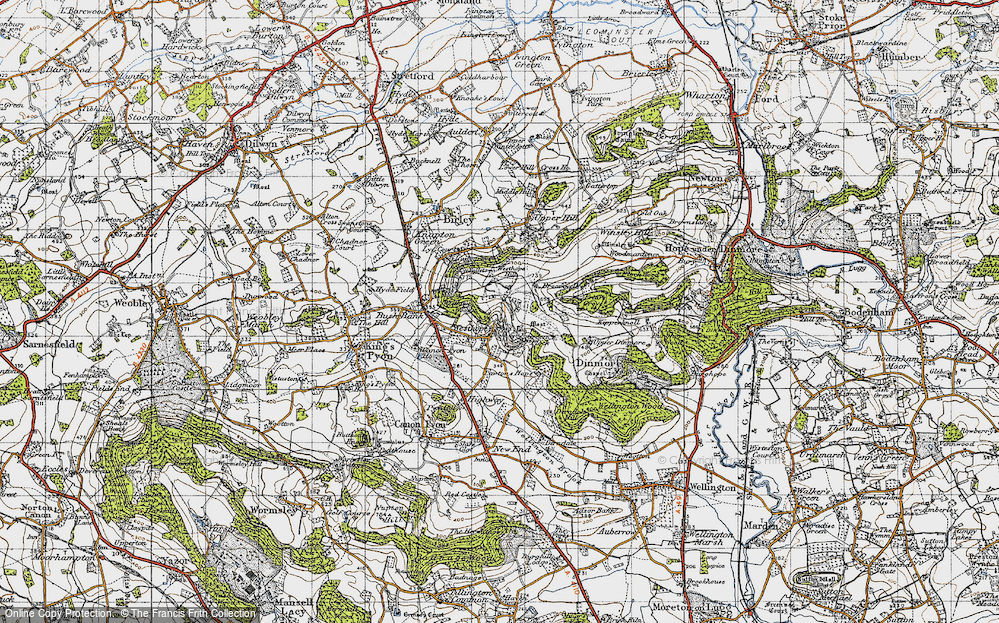 Old Map of Westhope, 1947 in 1947