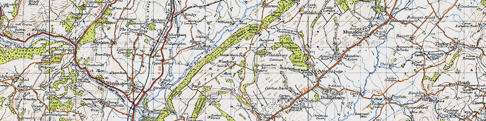 Old map of Westhope in 1947