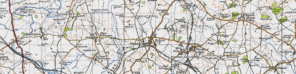 Old map of Westhorp in 1946
