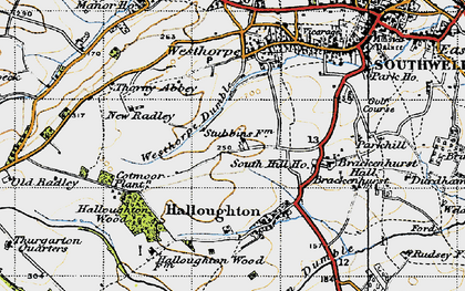 Old map of Westhorpe Dumble in 1946