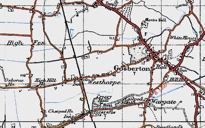 Old map of Westhorpe in 1946