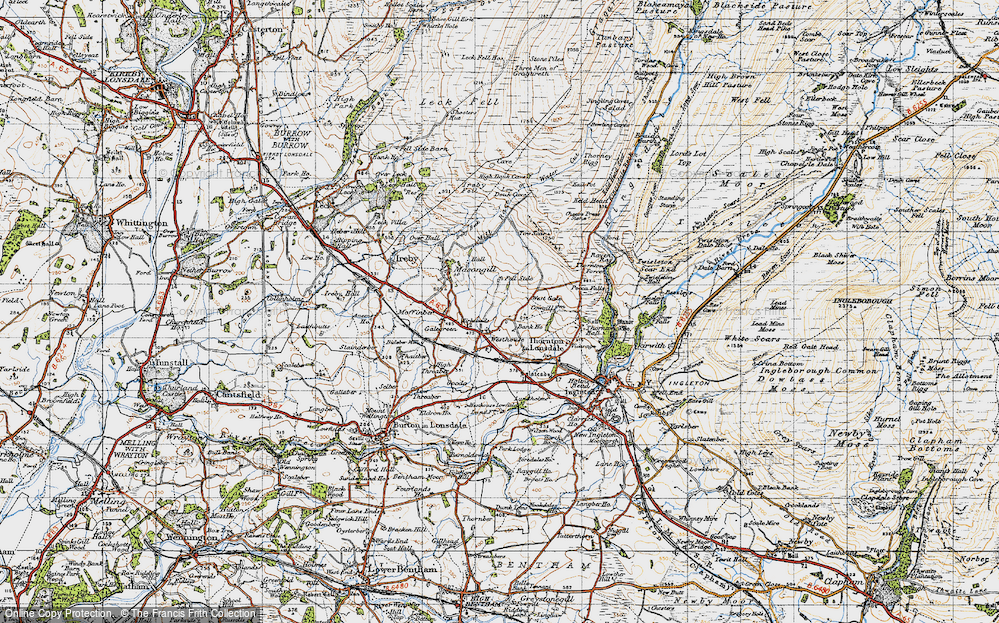 Old Map of Westhouse, 1947 in 1947