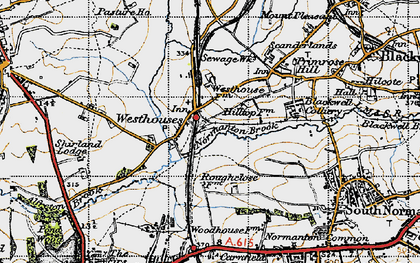 Old map of Westhouses in 1947