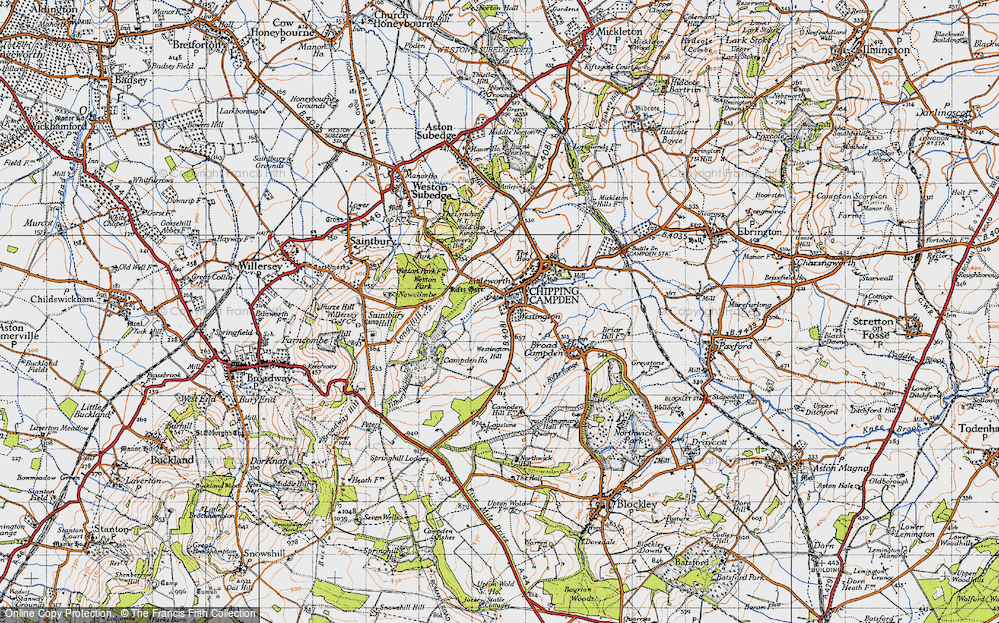 Old Map of Historic Map covering Tilbury Hollow in 1946