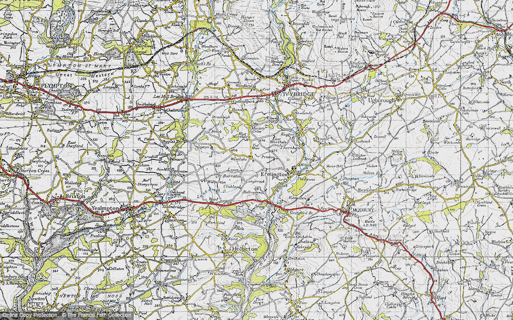 Old Map of Historic Map covering Tod Moor in 1946