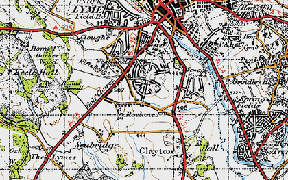 Old map of Westlands in 1946