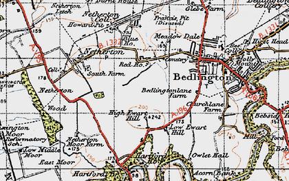 Old map of Westlea in 1947