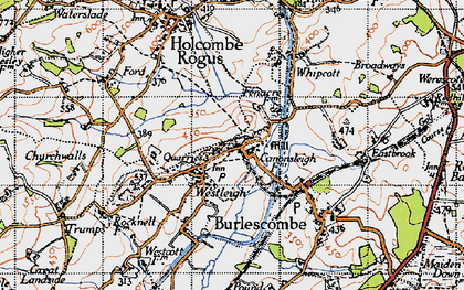 Old map of Westleigh in 1946