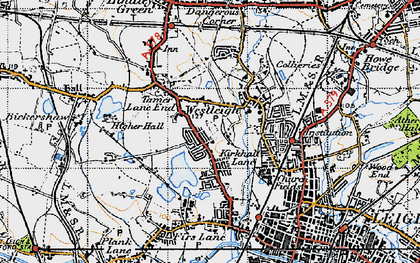 Old map of Westleigh in 1947