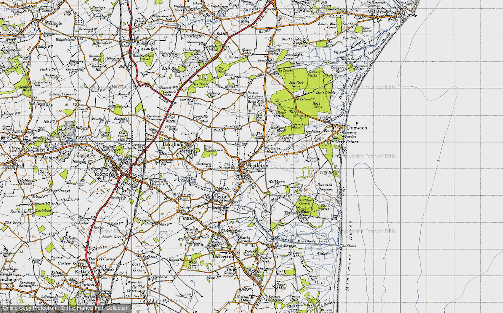 Old Map of Westleton, 1946 in 1946