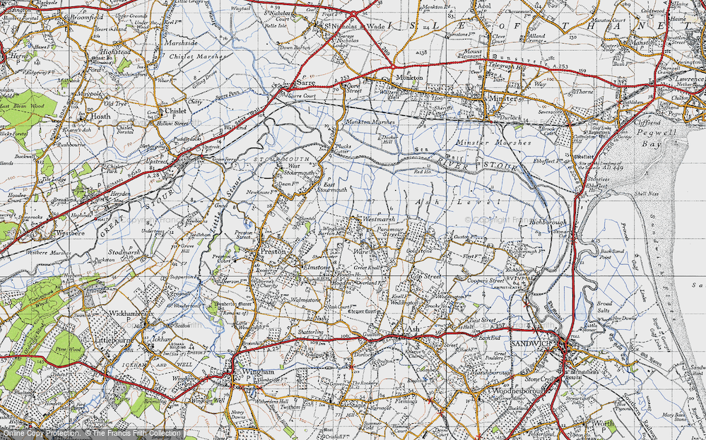 Old Map of Westmarsh, 1947 in 1947