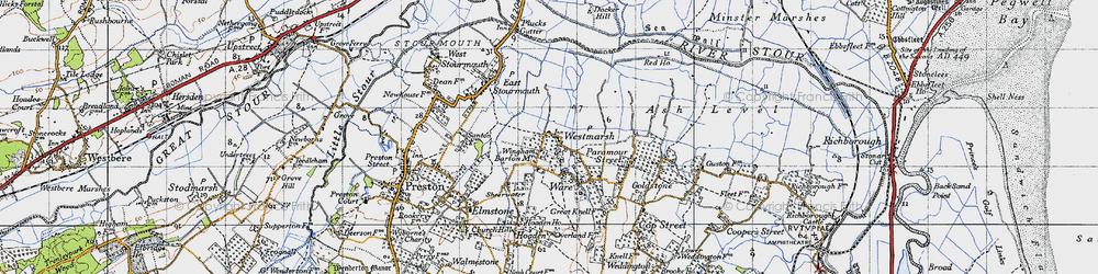 Old map of Westmarsh in 1947
