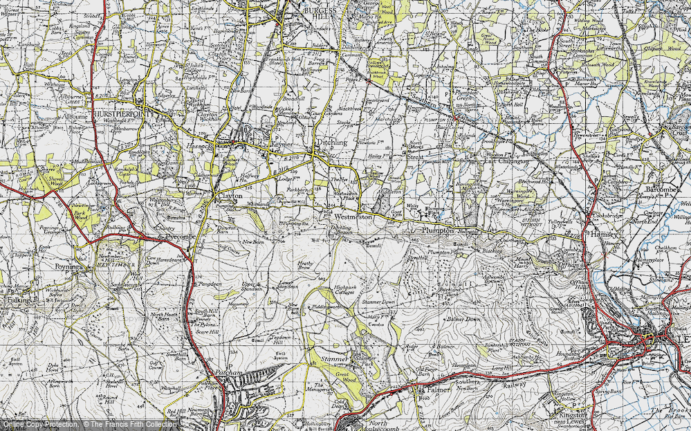 Old Map of Westmeston, 1940 in 1940