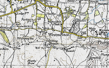 Old map of Westmeston Place in 1940