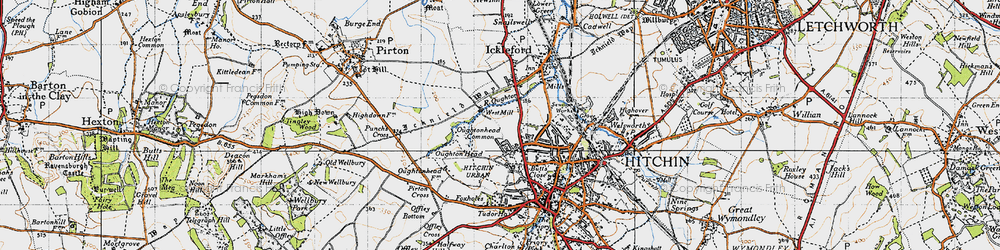 Old map of Westmill in 1946