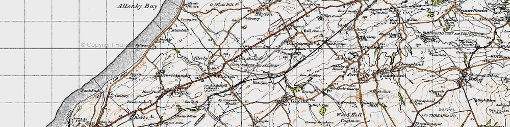 Old map of Westmoor End in 1947