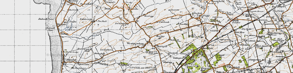 Old map of Westnewton in 1947