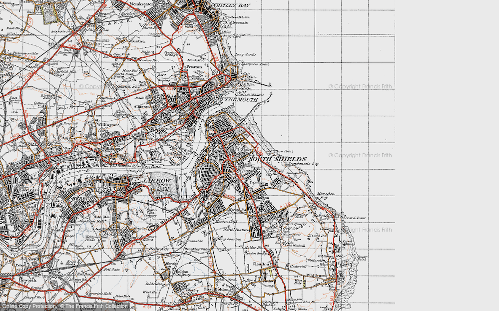 Old Map of Westoe, 1947 in 1947
