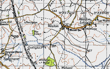 Old map of Allithorne Wood in 1946