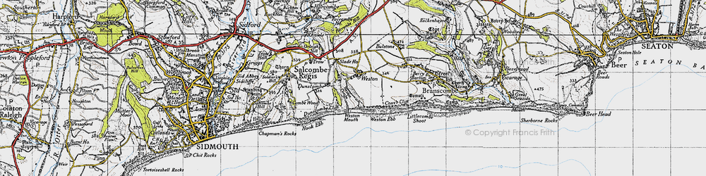Old map of Weston Combe in 1946