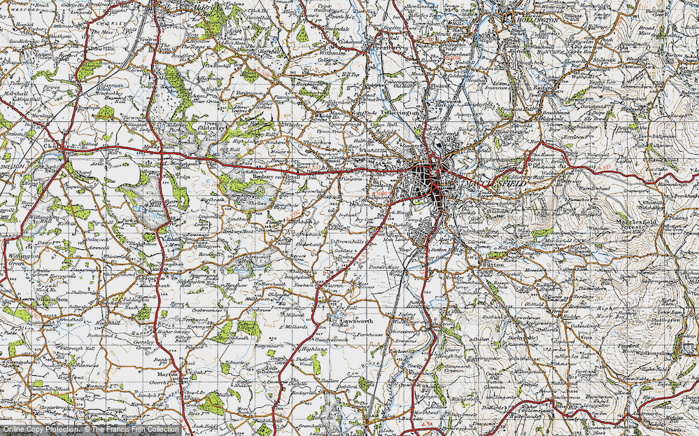 Old Map of Weston, 1947 in 1947