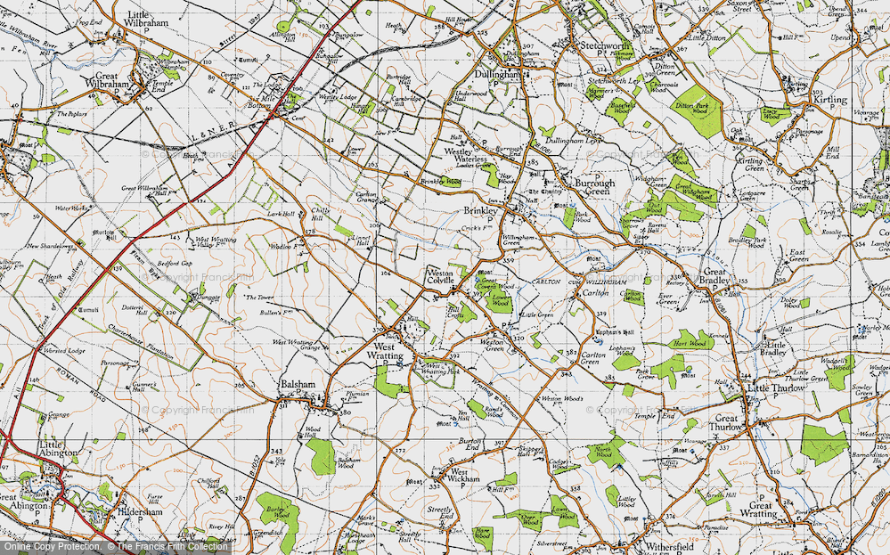 Old Map of Weston Colville, 1946 in 1946