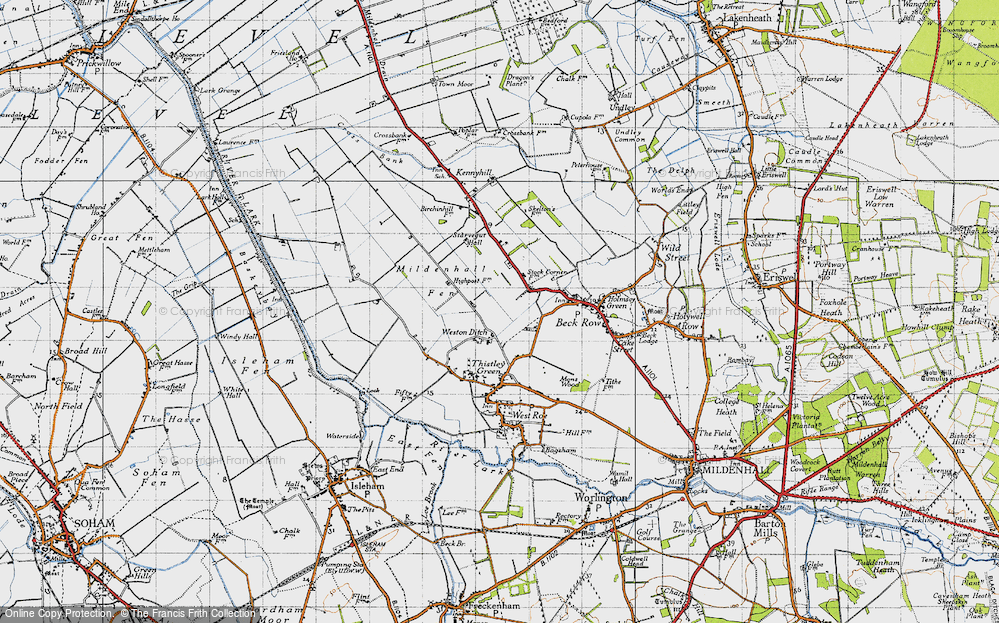 Old Map of Weston Ditch, 1946 in 1946