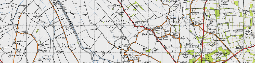 Old map of Weston Ditch in 1946