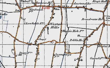 Old map of Weston Hills in 1946
