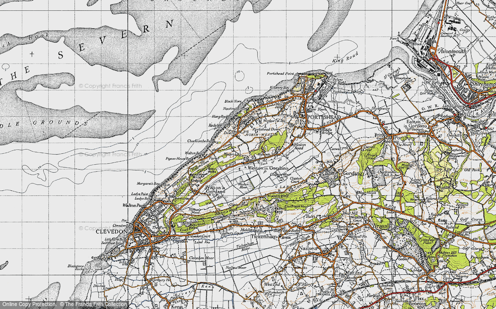 Old Map of Weston in Gordano, 1946 in 1946