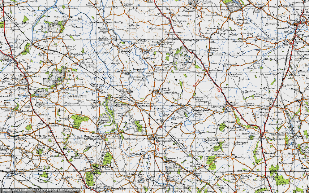 Old Map of Weston Lullingfields, 1947 in 1947