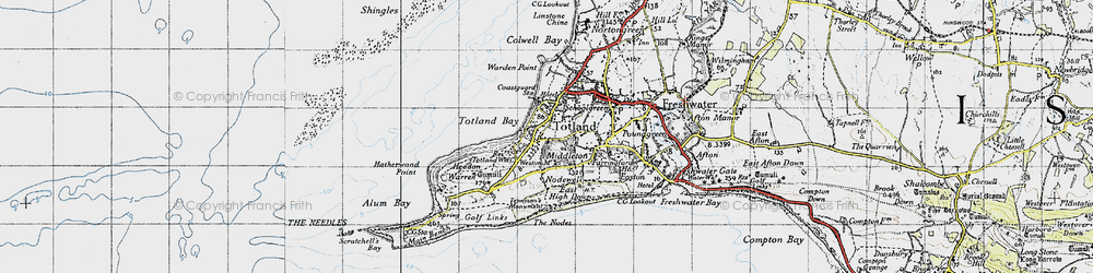 Old map of Weston Manor in 1945