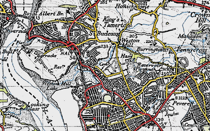 Old map of Weston Mill in 1946