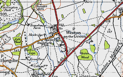 Old map of Weston Wood in 1946
