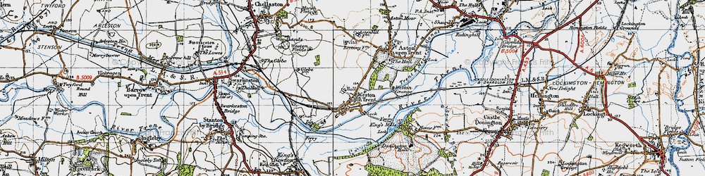 Old map of Weston-on-Trent in 1946