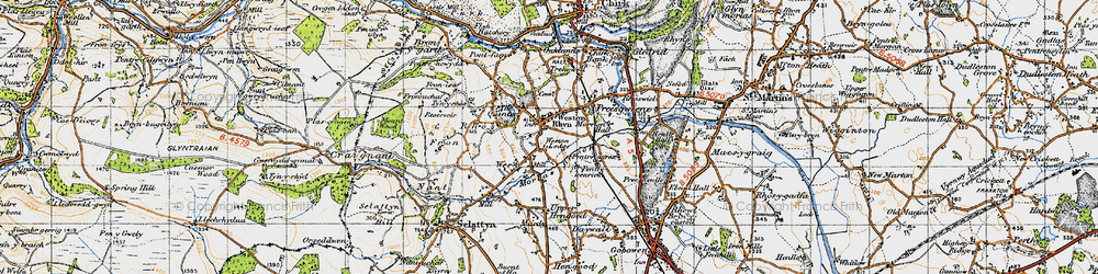 Old map of Weston Lodge in 1947