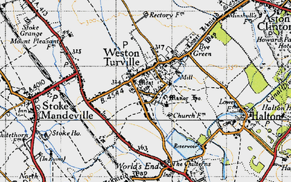 Old map of Weston Turville in 1946