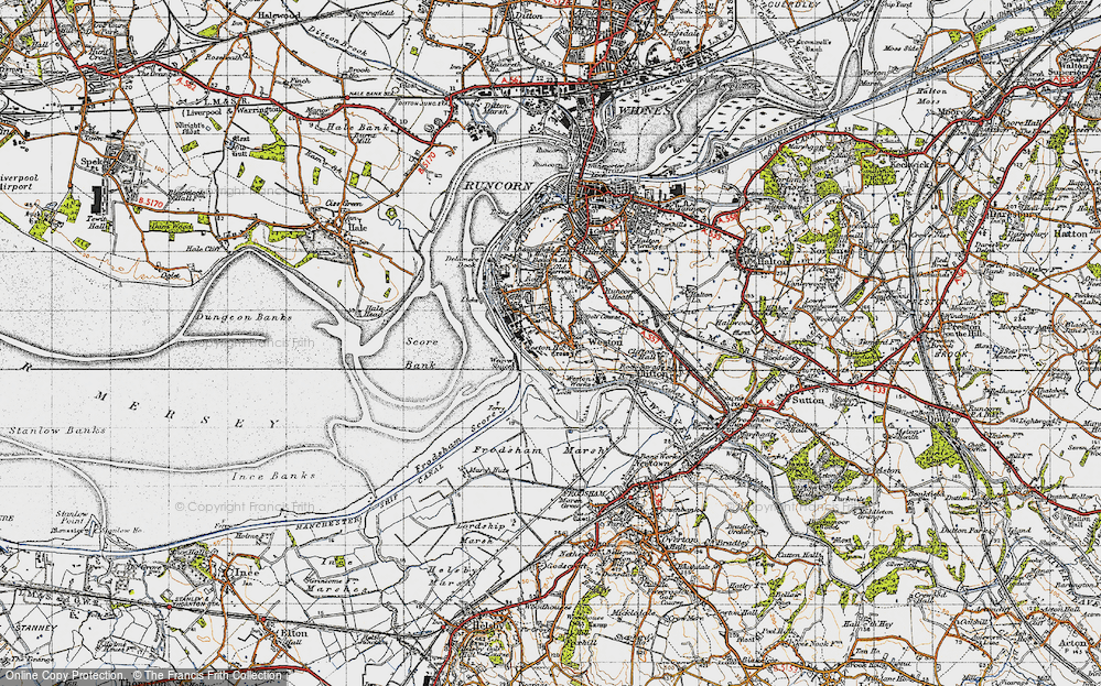Old Map of Weston Village, 1947 in 1947