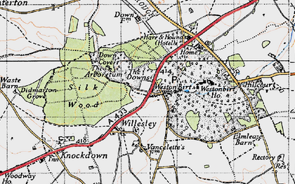 Old map of Westonbirt School in 1946