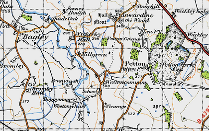 Old map of Westoncommon in 1947