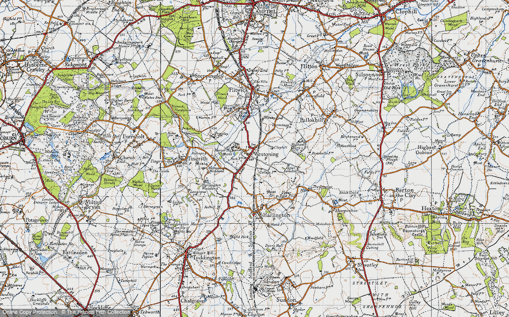 Old Map of Westoning, 1946 in 1946