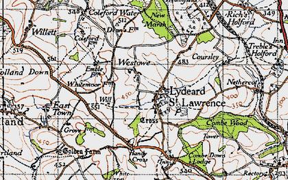 Old map of Westowe in 1946