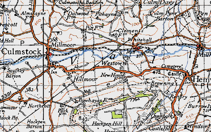 Old map of Westown in 1946