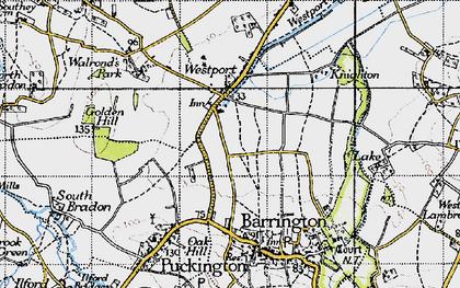 Old map of Westport in 1945