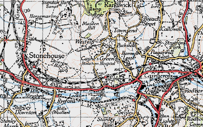 Old map of Westrip in 1946