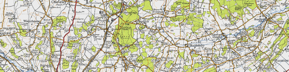 Old map of Westrop Green in 1945