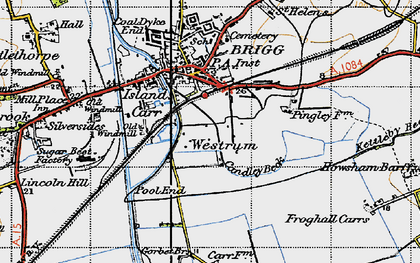 Old map of Westrum in 1947