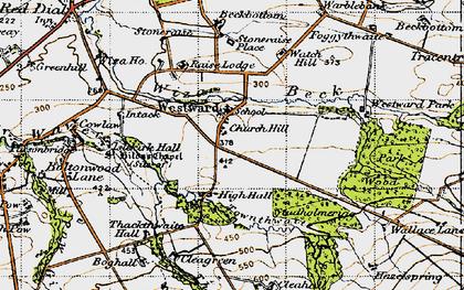 Old map of Westward Park in 1947
